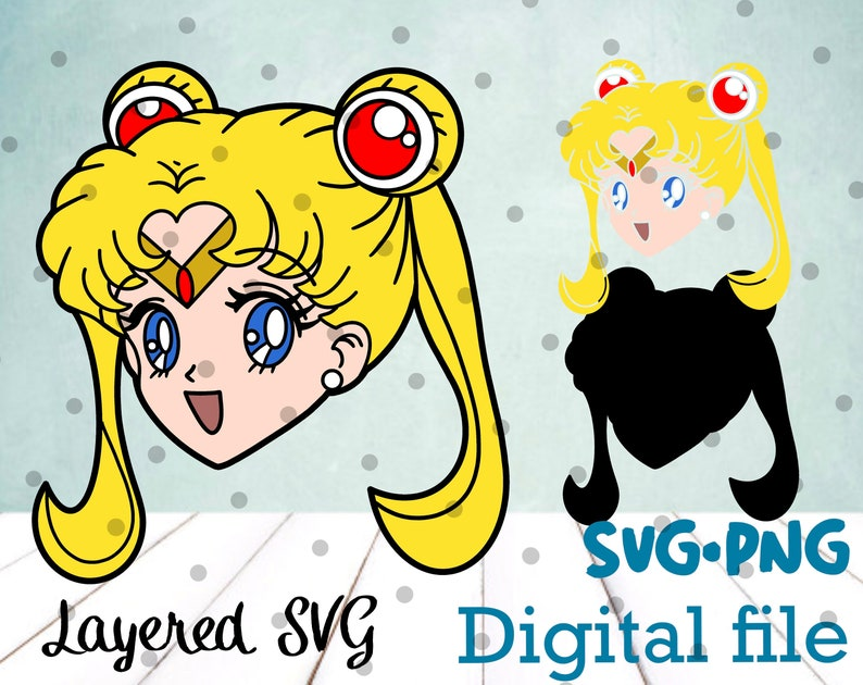 Download Anime Girl SVG and PNG Cricut Silhouette Cut File Clipart ...
