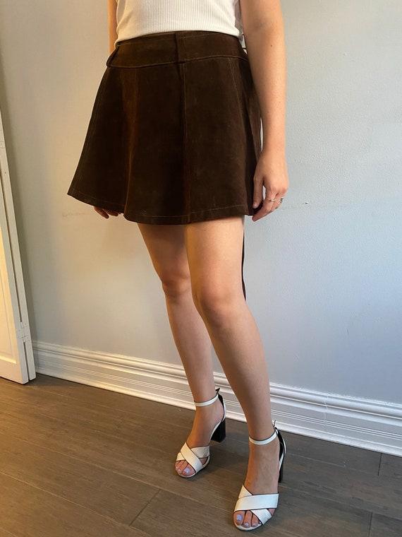 Suede Mini Wrap Skirt