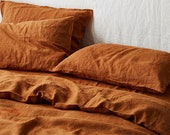Cinnamon tobacco washed Cotton duvet cover Cinnamon duvet cover with free pillow shames tobacco comforter cover Halloween Sale