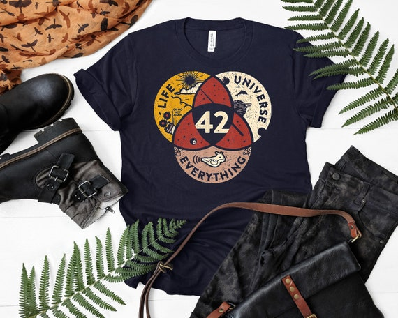 42 Answer to Life Universe and Everything T-Shirt