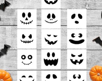 Decal, Pumpkin Faces, Halloween, Jack O Lantern, Halloween Decal, Vinyl Decal, Halloween Faces, Decorate a Pumpkin, Pumpkin Decor