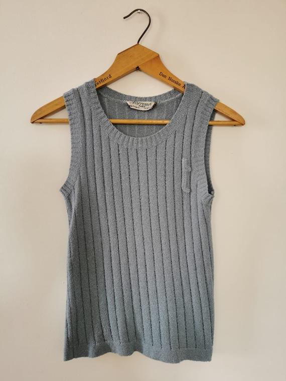 FRENCH VINTAGE Torrente Paris Blue Sweater Vest