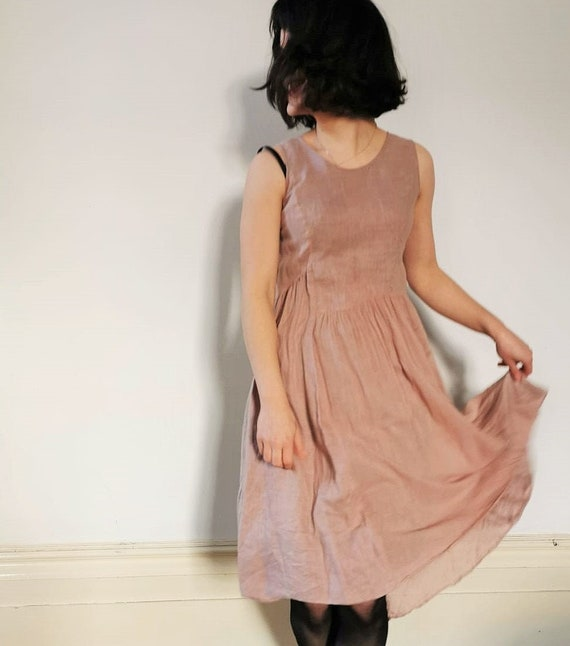 Gorgeous GRUNGE Courtney Love Pink Linen Babydoll