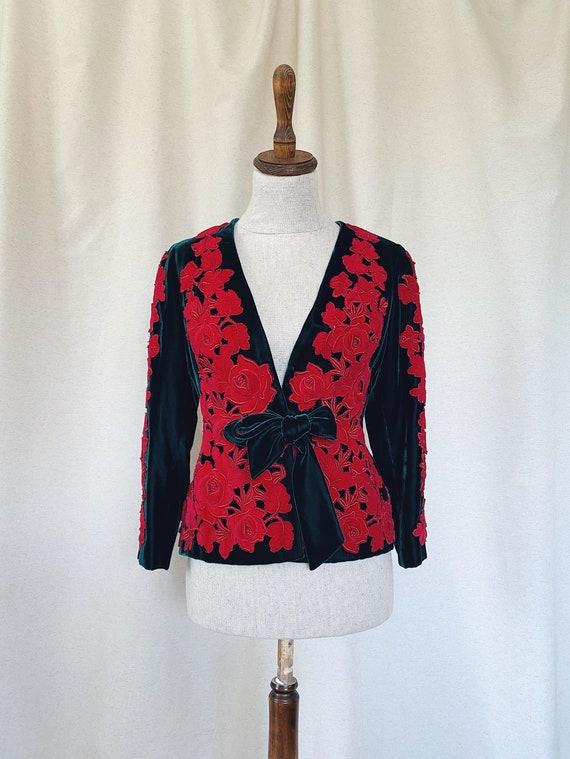 Vintage Silk Velvet Jacket