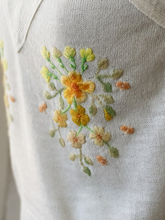 Hand embroidered Vintage Top - image 2