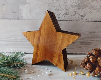 Christmas Wooden Star, Rustic Star, Standing White Star, 1st Christmas New Home Gift,
