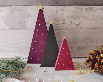 Wooden Christmas Tree set, Xmas Decor,  Christmas Trends 2021, Couples Xmas Gift, 1st House Christmas Gift, Wood Xmas Trees