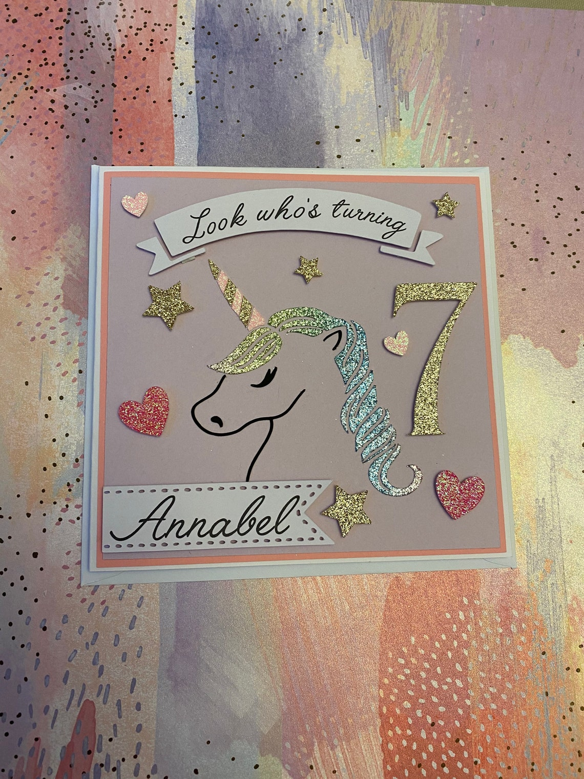 handmade unicorn birthday card  etsy