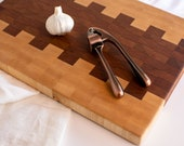 maple & cherry end grain cutting board XL