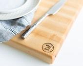 maple edge grain cutting board II