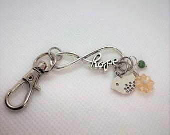 5 Hope Infinity Charm Connectors Antique Silver Tone Bracelet Links MC0457