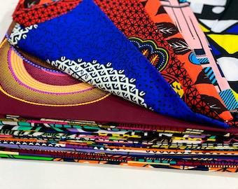 Fat Quarters Bundle African Wax Fabric • African Print Fabric • African Fabric Bundle • African Cotton Fat Quarter (18'' x 21'')