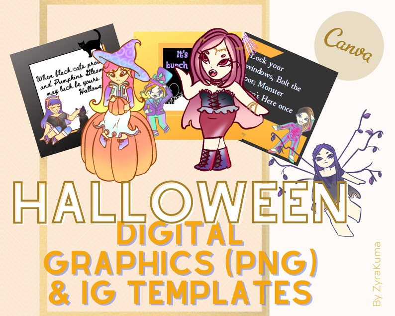 Halloween Digital Graphic Downloadable PNG Images  Halloween image 0