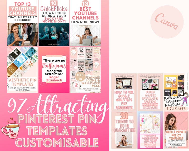 97 Attracting Pinterest Pins  Pinterest Templates Canva  image 0