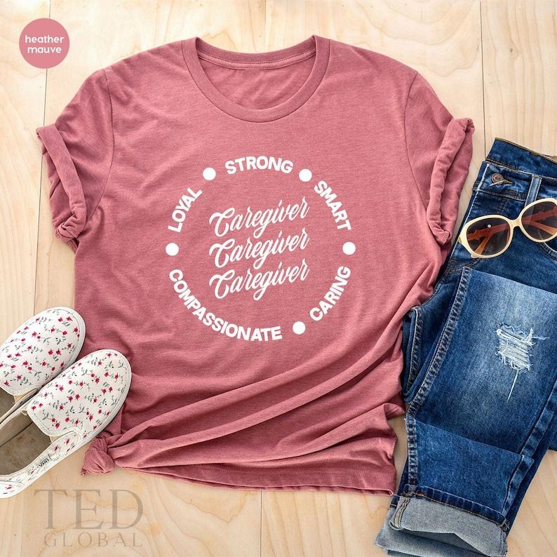 Gearhuman – Caregiver TShirt Healthcare Worker T Shirt Strong Smart – 3D Tshirt – TH-0066