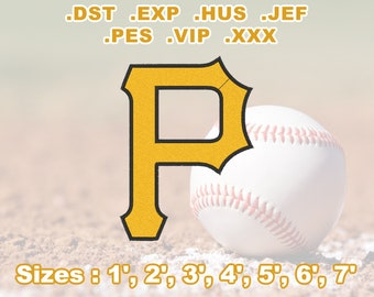 Pittsburgh Pirates Machine Embroidery Design, Digital Download Only