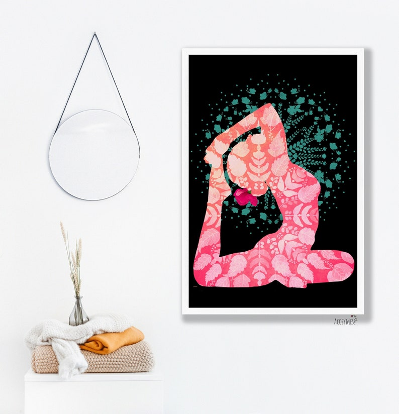 Yoga Printable Wall Art Wall Home Decor Instant Digital image 0