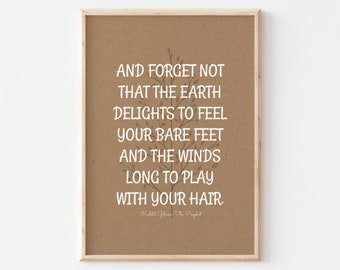 Kahlil Gibran Quotes, Kahlil Gibran Wall Art, Self Love Quotes, Bedroom Art Quote, Beach House Decor Wall Art, Instant Download