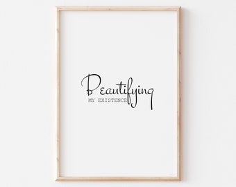 Quotes Wall Art Print, Quotes Posters, Downloadable Wall Art, Motivating Quote Print,Minimalist Wall Art Quote, Bedroom Art Quote