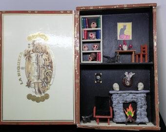 Cigar box creepy party diorama