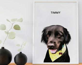 Pet Portrait Custom Pet Portrait Gifts For Her Custom Dog Portrait Personalized Gift for Dog Mom Pet Dog Memorial Gift Pet Lover