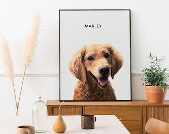 Pet Portrait Custom Pet Portrait, Custom Dog Portrait, Custom Cat Portrait, Personalized Gifts for Friendship Day, Custom Dog Frame
