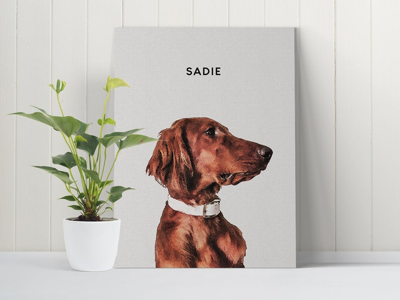 Pet Gift Pet Memorial Gift Dog Art Custom Pet Portrait from Photo Dog Portrait Dog Gift Pet Loss Personalized Gift For Her Dog Print