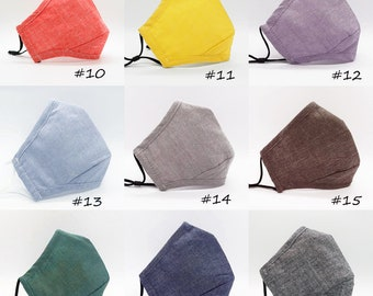 Face Mask with Filter Pocket and Adjustable Nose Wire, Reusable and Washable Cotton Cloth Face Mask for Men and Women