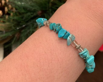 Leather and stone Handmade African Turquoise bracelet Bohemian earthy jewelry Bracciale artigianale con Turchese Africano Made in Italy