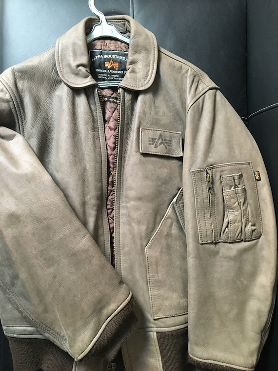Alpha Industries CWU 45P Leather Flight Jacket