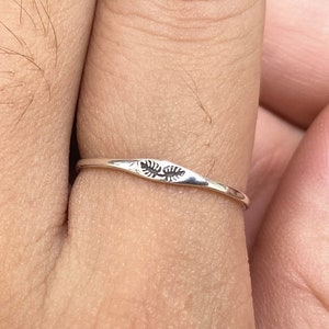 925 silver fern leaf ring,Plants leave ring,Woodland jewelry,Nature leaf Jewelry