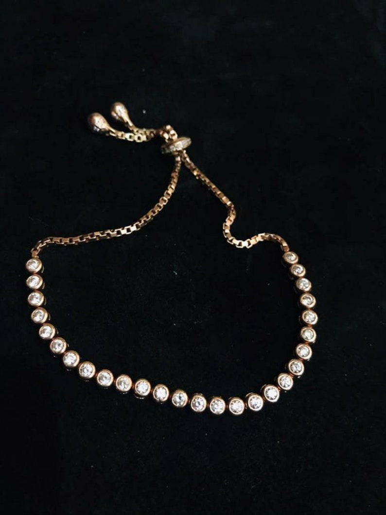 Gold-colored silver bracelet