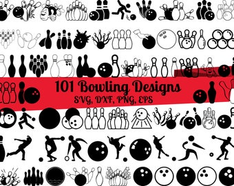 101 Bowling SVG Bundle, Bowling dxf, Bowling png, Bowling eps, Bowling vector, Bowling cut files, Strike svg, Bowling Team svg, Bowling svg