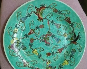 Chinese Jindezhen  Nyonya Design Plate 10 Inch