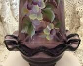 Fenton Grape Arbor on Violet Fairy Light