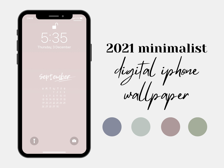 21 Iphone Wallpaper Kalender, Telefon Bildschirmschoner, ästhetische  Pastell minimalistische, sofortiger digitaler Download