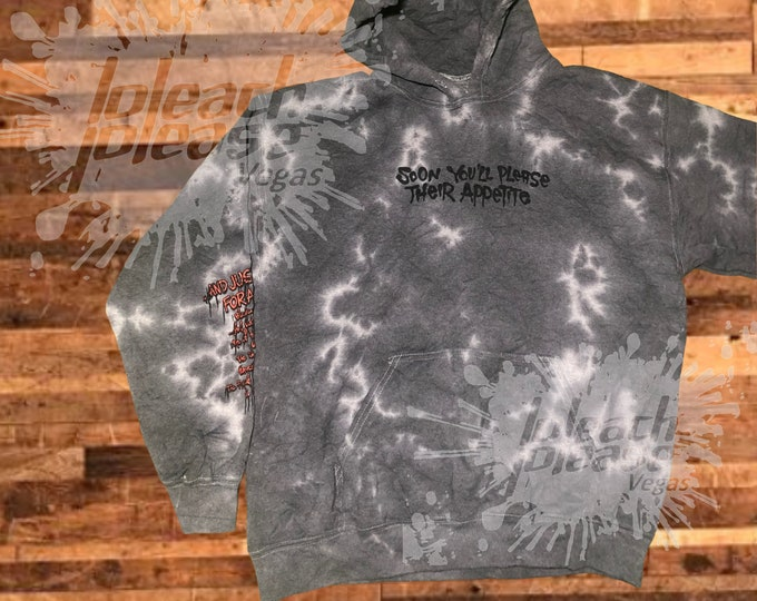 Featured listing image: METALLICA and Justice For All Tie-Dye Hoodie Rare One of a Kind Official Merch Heavy Metal Adult Sizes Unisex