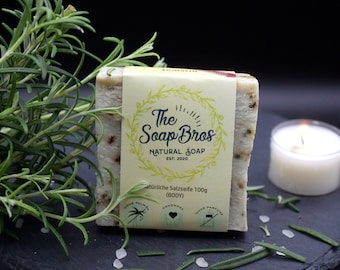 Natural soap rosemary 100g piece (hand-boiled)