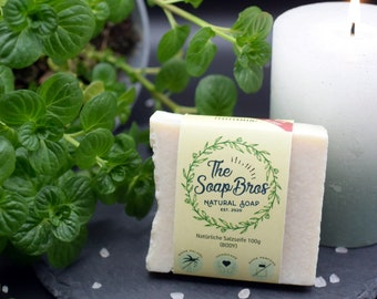Natural soap peppermint 100g piece (hand-boiled)