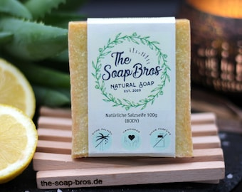 Natural Soap Lemon Lemon Grass 100g Piece (Hand Sewn)