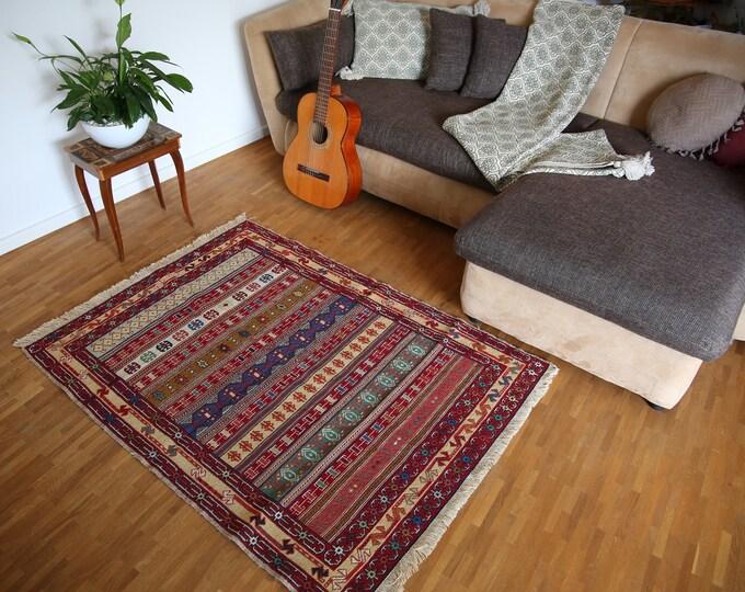 Kelim Rug Hand Knotted Handmade Rug Verni Kilim Oriental Rug Nomad Rug