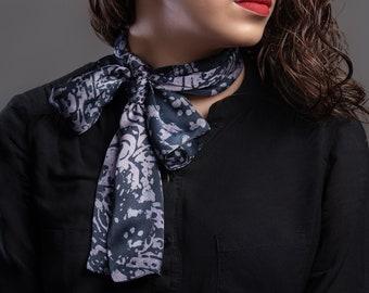 Scarf, scarf, scarf, silk scarf, hand-printed in high-quality silk, batik