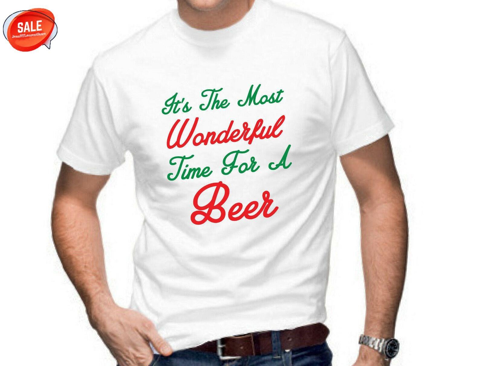 Es ist die schönste Zeit für ein Bier Herren lustige T