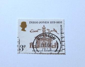 "Royston 27th Dec 1973 - Framed Vintage GB Postage Stamp - 4 x 4"" Black Frame - Special Anniversary Birthday Wedding Gift Covent garden"