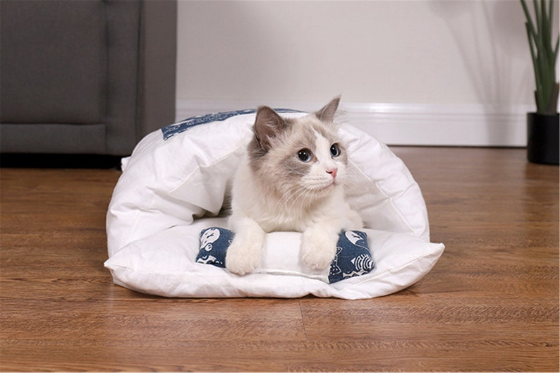 Removable Dog Cat Bed Cat Sleeping Bag Sofas Mat Winter Warm image 9