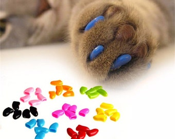 1 Pack Colorful Soft Non-Toxic Pet Cat Claw Covers Dog Paws Nail Caps Protective High Quality Nail Covers Pet Accessories