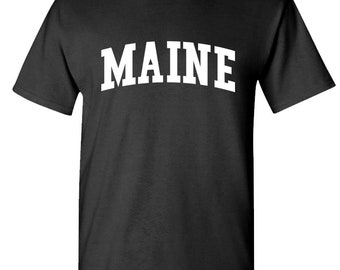 united states usa patriot MAINE Unisex Cotton T-Shirt Tee Shirt