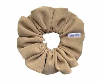Trench Hair Scrunchie   Brown Scrunchie   Tan Scrunchie   Hair Tie   Hair Elastic