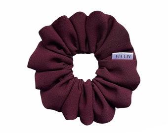 Merlot Hair Scrunchie   Burgundy Scrunchie   Purple Scrunchie   Hair Tie   Hair Elastic