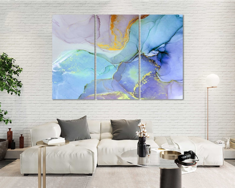 Very Beautiful Colorful Abstract Artwork Home Decor Marble Abstract Print on Canvas Sets Abstract Contemporary Wall Decor Abstract Painting